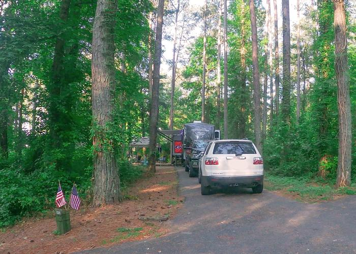 SW131 - Driveway slope.Sweetwater Campground, campsite 131.