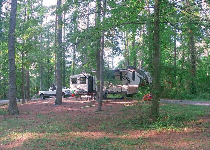 SW133 - Pull-thru, campsite view.Sweetwater Campground, campsite 133.