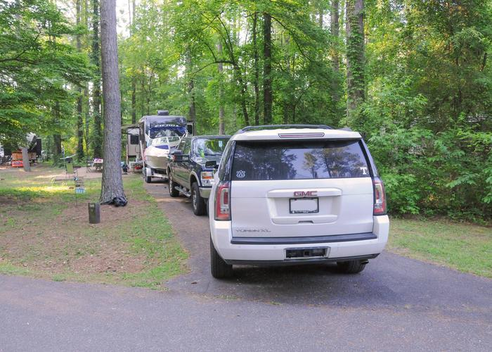 SW138 - Driveway slope.Sweetwater Campground, campsite 138.