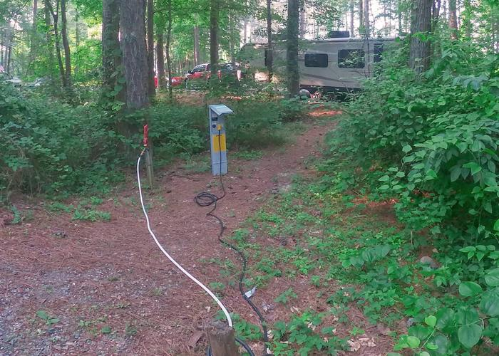 SW144 - Utilities placement.Sweetwater Campground, campsite 144.