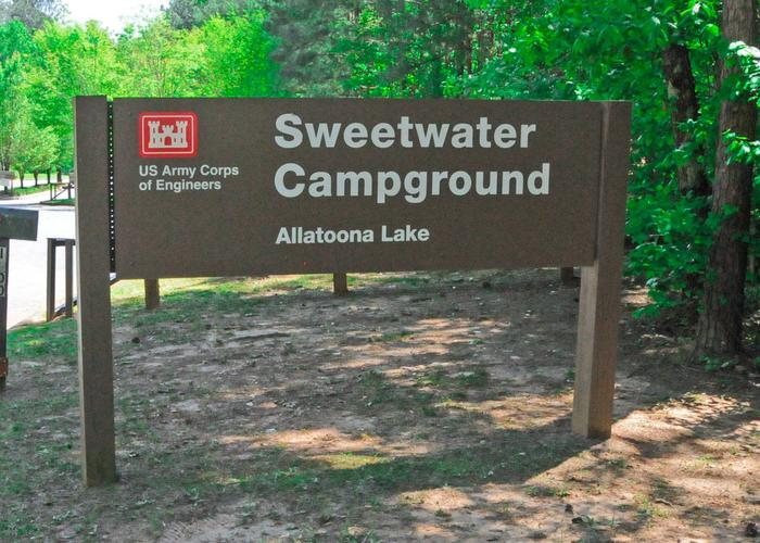 SWXX1 - Entrance sign.Sweetwater Campground
