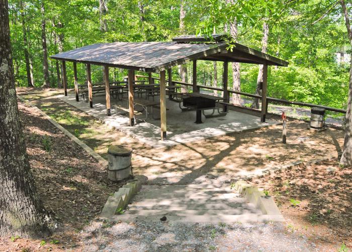 SWXX8 - PavillionSweetwater Campground Group Campsite 28 A-H Pavilion.