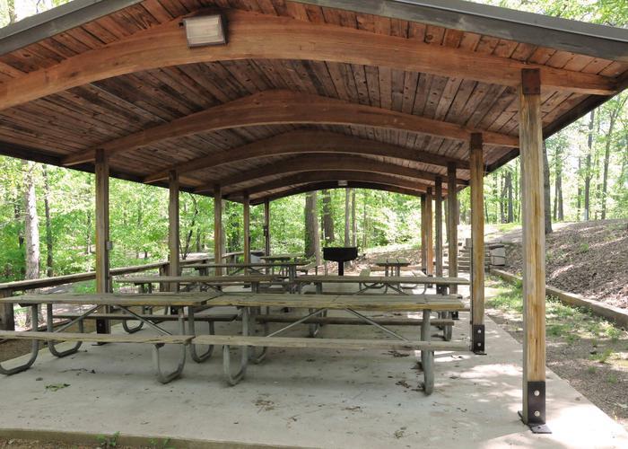 SWXX9 - PavillionSweetwater Campground Group Campsite 28 A-H Pavilion.