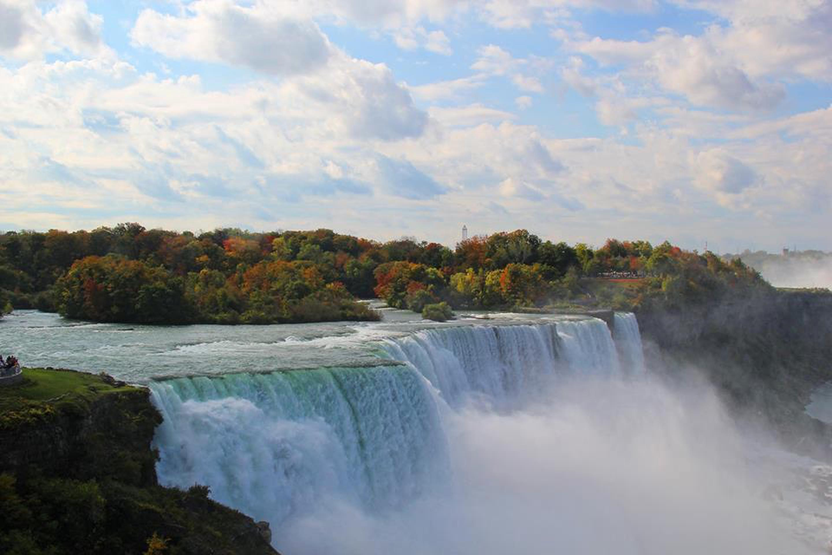 Niagara Falls State ParkMillions of people visit Niagara Falls State Park to see the famous waterfall