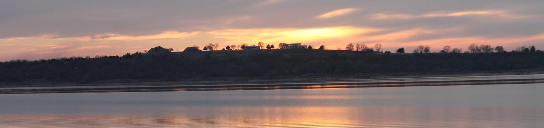 Sunset Over Kaw Lake