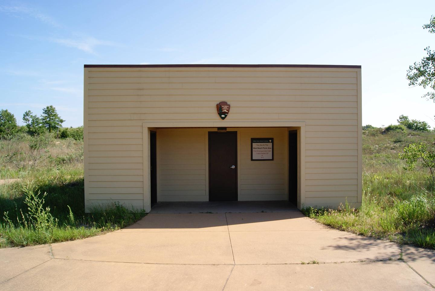 Bathrooms for West Beach Picnic Shelters