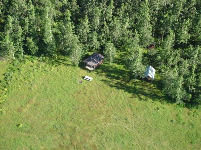 Alsek River Cabin from the AirAlsek River Cabin
