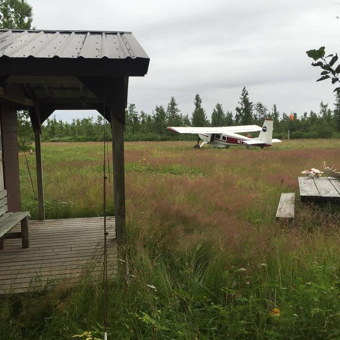 Runway infront of cabin