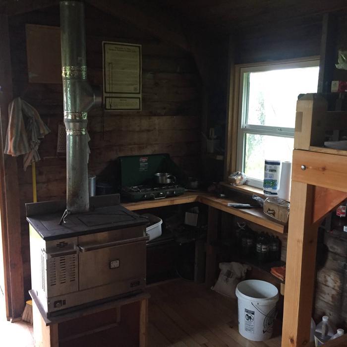 #1 Diesel Dickison oil stove inside the cabin