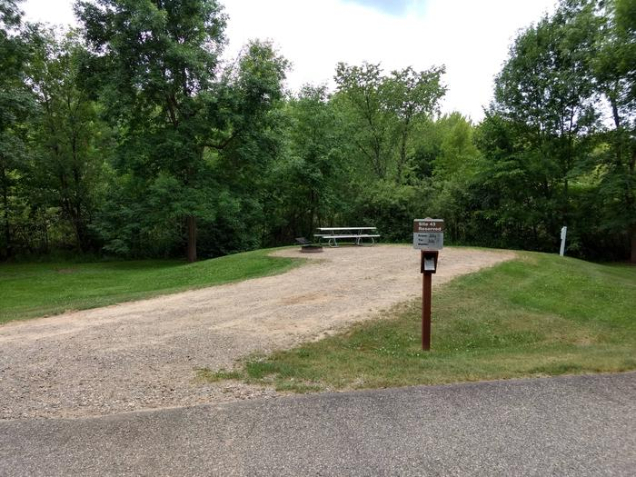 Sandy Lake - Campsite 43Sandy Lake Site 43