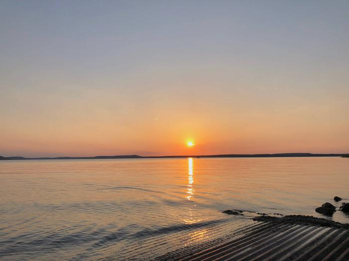 Lady Bird SunsetSunset over Lake Eufaula