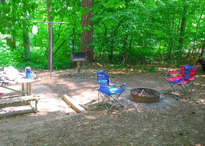 Campsite view-2McKaskey Creek Campground, campsite 2.