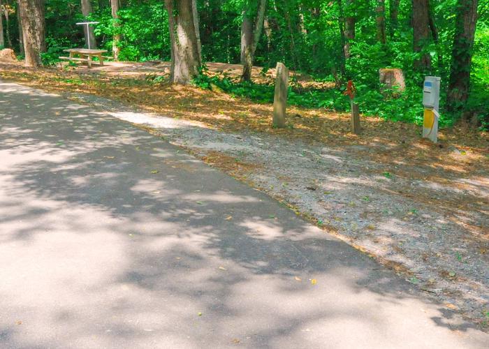 Utilities configuration.McKaskey Creek Campground, campsite 2.