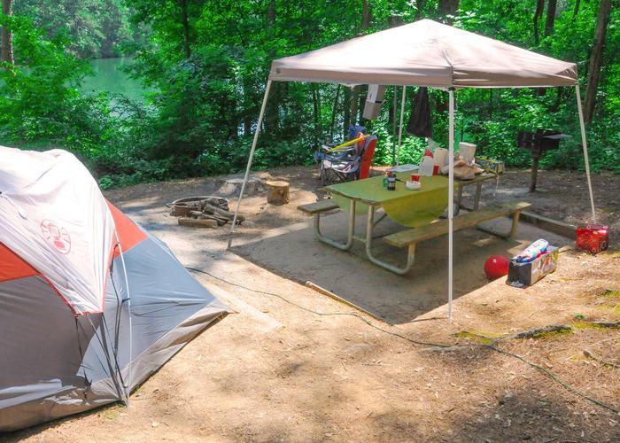 Campsite view.McKaskey Creek Campground, campsite 3.
