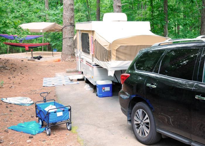 Awning-side clearance.McKaskey Creek Campground, campsite 11
