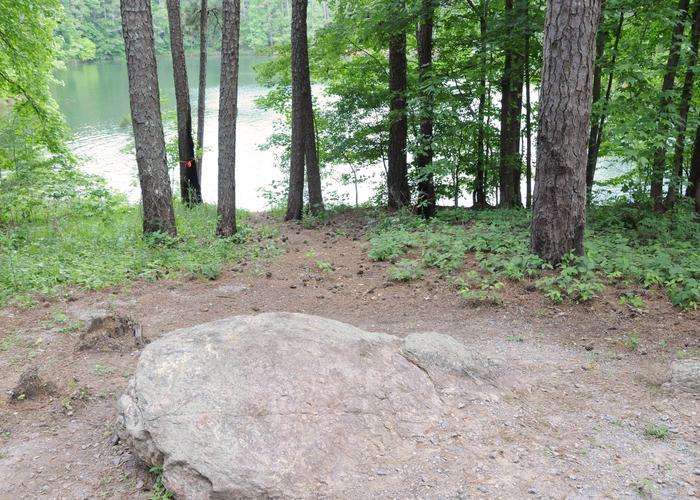 water accessMcKaskey Creek Campground, campsite 13 water access.