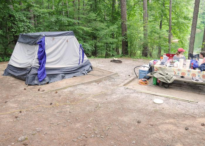 Campsite viewMcKaskey Creek Campground, campsite 13.