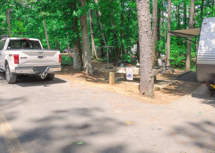 Parking, campsite.McKaskey Creek Campground, campsite 15.
