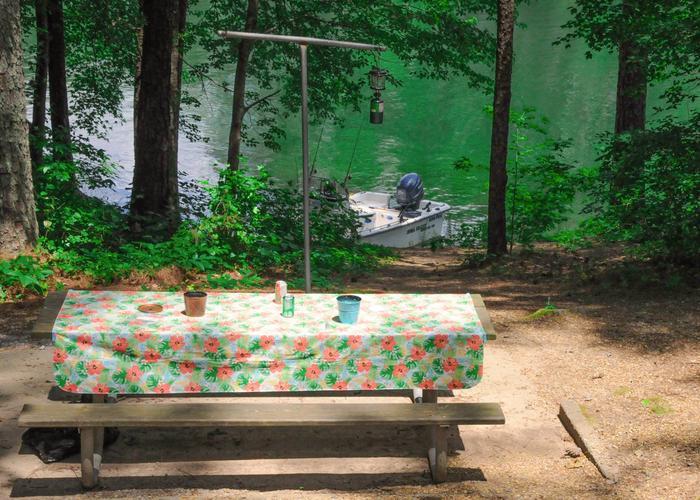 Campsite view.McKaskey Creek Campground, campsite 16.