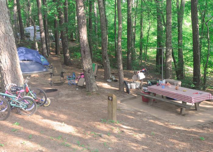 Campsite view.McKaskey Creek Campground, campsite 18.