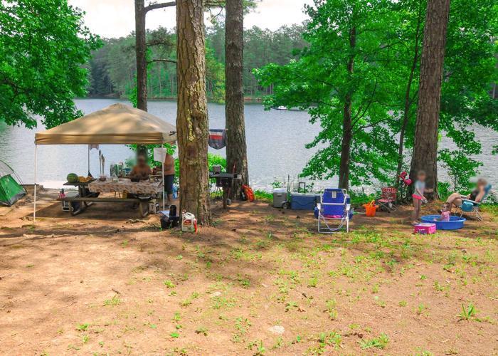 Campsite view.McKaskey Creek Campground, campsite 19.