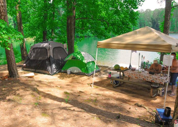 Campsite view-2McKaskey Creek Campground, campsite 19.