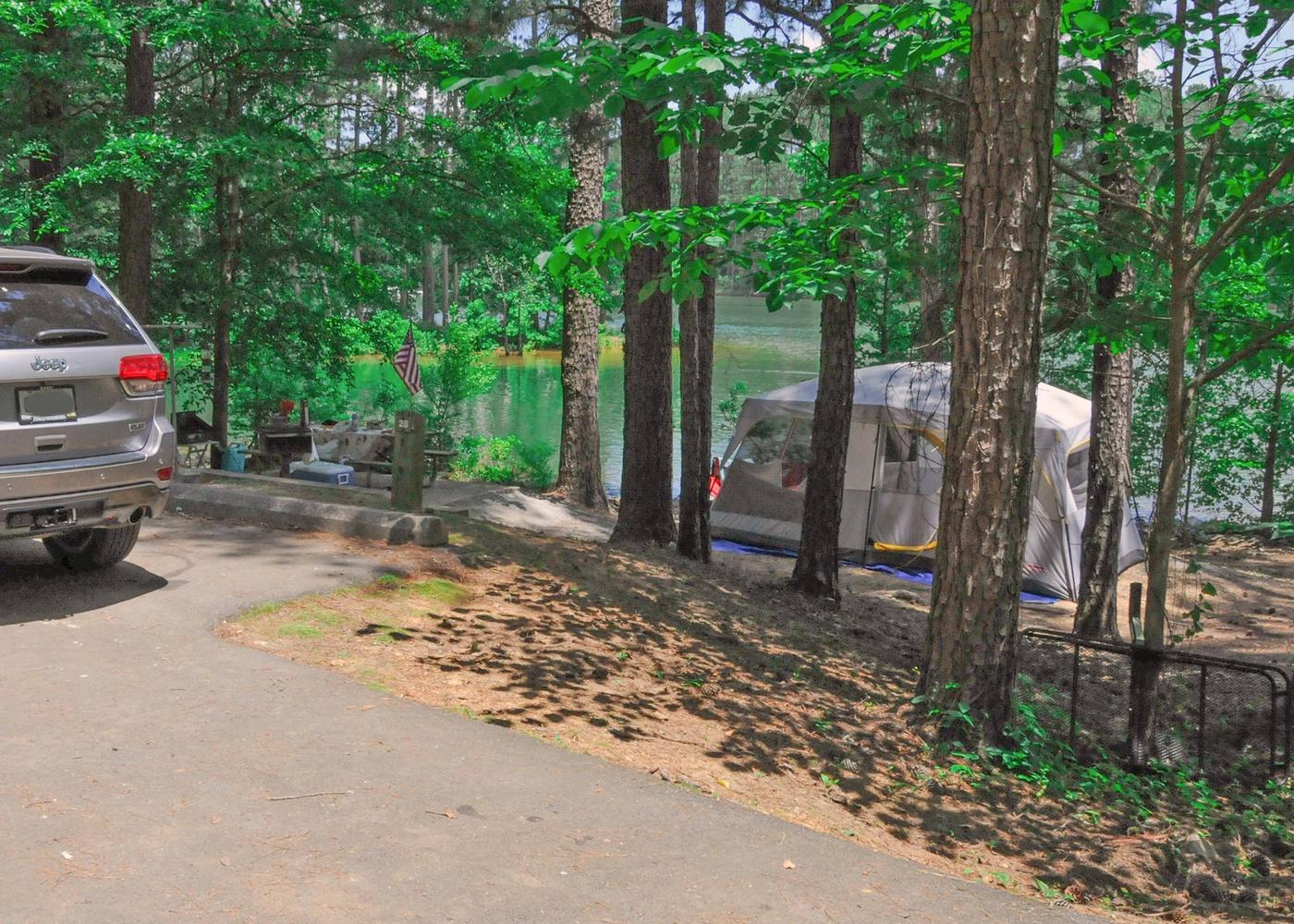 Campsite view.McKaskey Creek Campground, campsite 28.