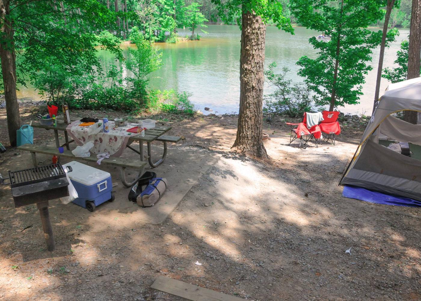 Campsite view-2McKaskey Creek Campground, campsite 28.