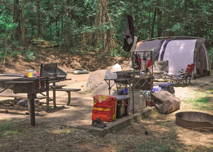 Campsite view.McKaskey Creek Campground, campsite 36.