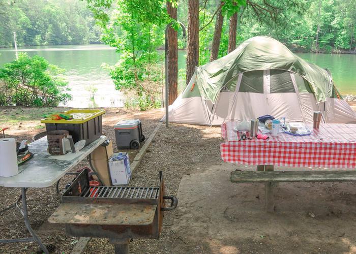 Campsite view.McKaskey Creek Campground, campsite 38.