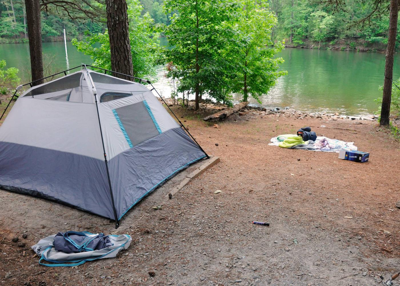 Campsite view, water access.McKaskey Creek Campground, campsite 39.