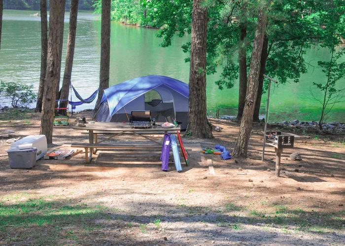 Campsite view.McKaskey Creek Campground, campsite 40.