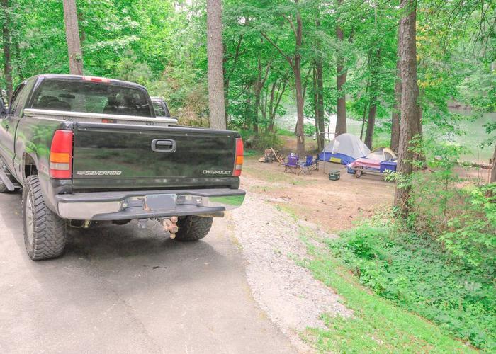 Driveway, campsite view.McKaskey Creek Campground, campsite 42.