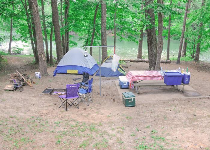 Campsite view.McKaskey Creek Campground, campsite 42.