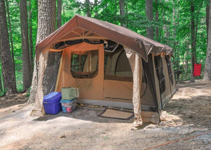 Campsite view.McKaskey Creek Campground, campsite 43.