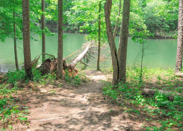 Water access.McKaskey Creek Campground, campsite 43.