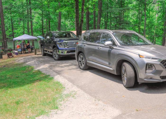 Driveway, campsite view.McKaskey Creek Campground, campsite 43.