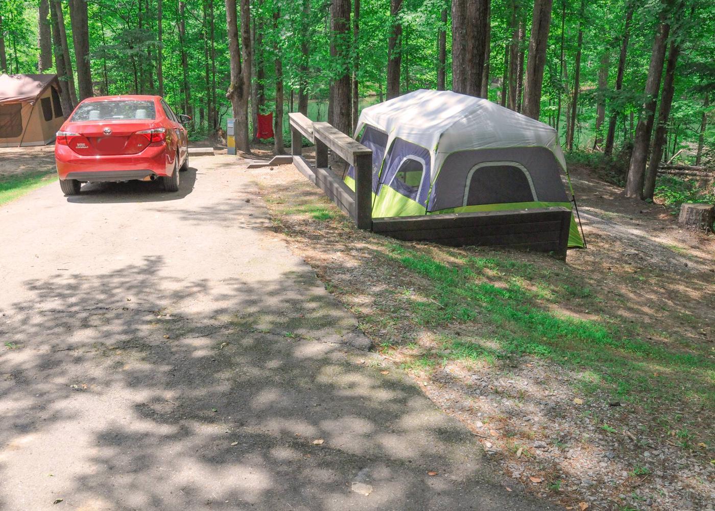Driveway, campsite view.McKaskey Creek Campground, campsite 44.