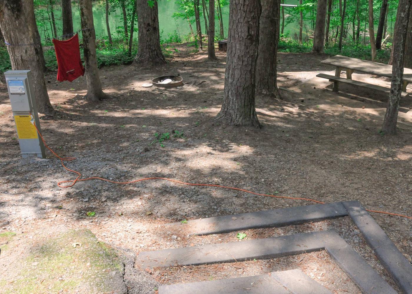 Campsite view.McKaskey Creek Campground, campsite 44.