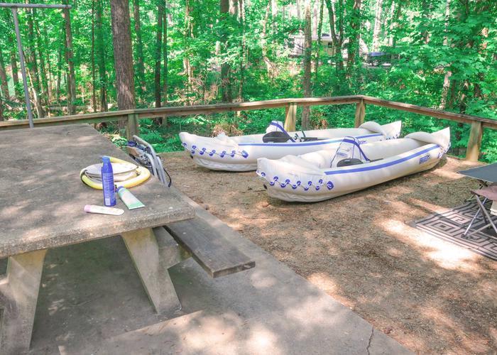 Campsite view.McKaskey Creek Campground, campsite 45.