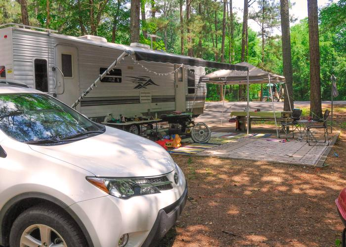 Awning-side clearance, campsite view.McKaskey Creek Campground, campsite 46.