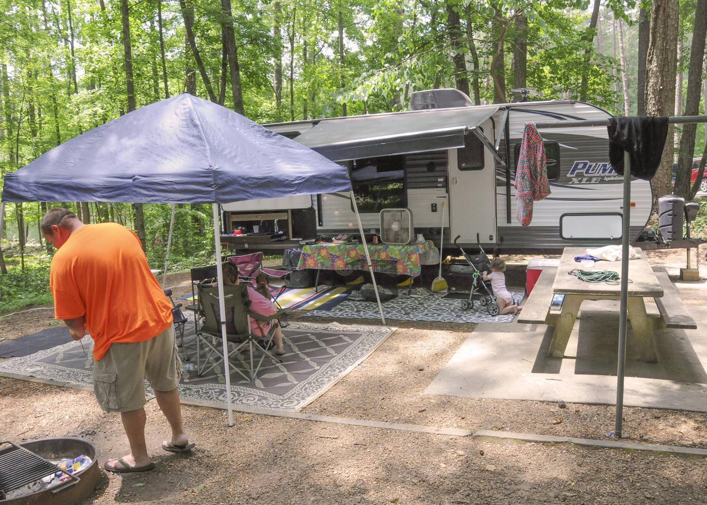 Campsite view.McKaskey Creek Campground, campsite 47.