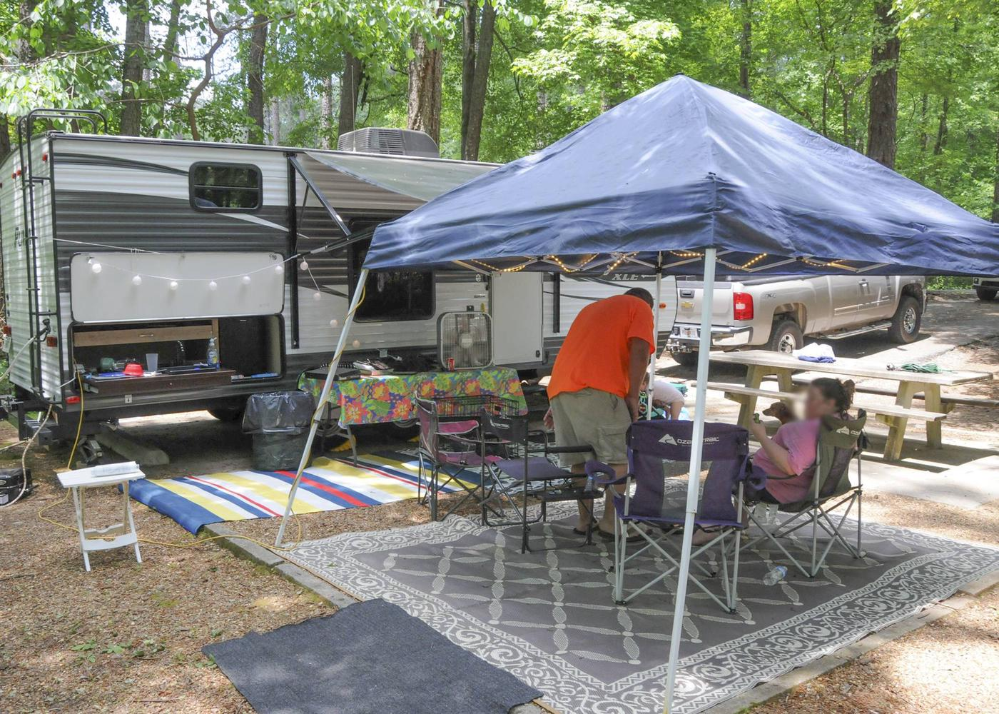 Campsite view-2McKaskey Creek Campground, campsite 47.
