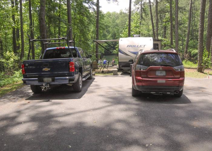 Awning-side clearance, utilities-side clearance.McKaskey Creek Campground, campsite 48.