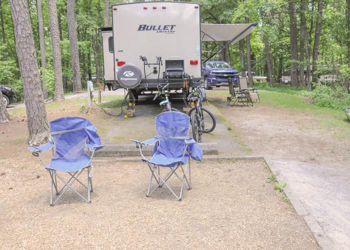 Awning-side clearance, campsite view.McKaskey Creek Campground, campsite 48.