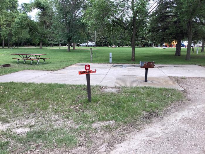 One of our three ADA sites. Concrete pad. Near bathhouse.Site 16