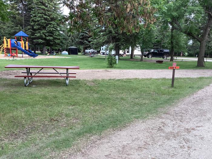 Family friendly location next to playground.Site 20