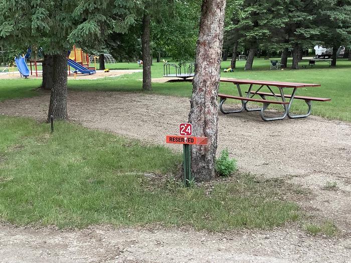 Family friendly location next to playground.Site 24