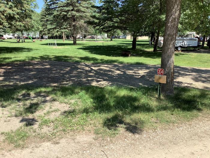 Nice shady spot near the playground. Good for spot for a smaller camper.Site 34