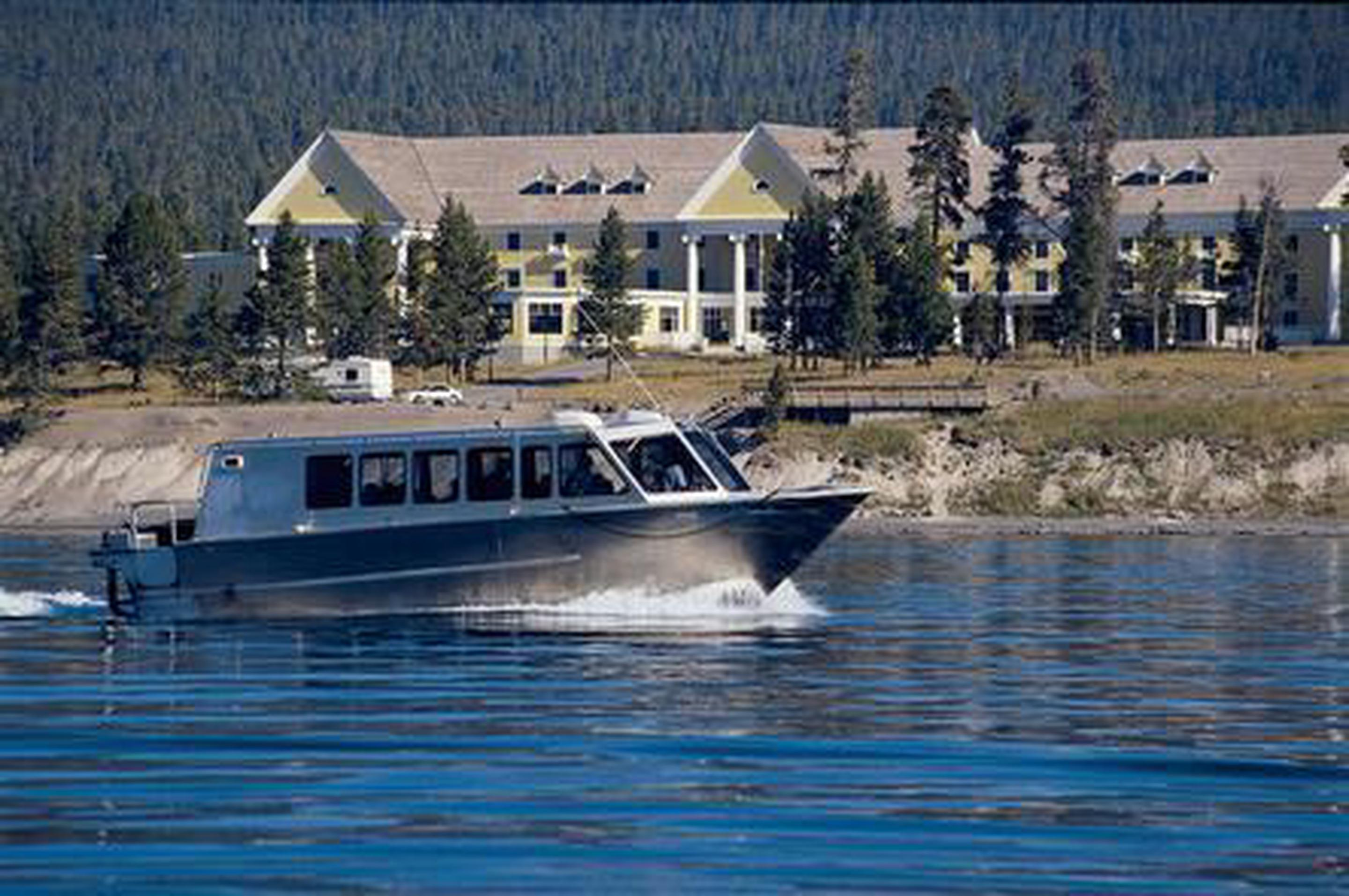 Scenic Cruise If renting a boat isn't your speed, the Yellowstone Lake Scenicruise offers a one hour tour of the lake's history and natural flora and fauna.